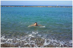 Swimming is just one way to enjoy the Mediterranean Sea in Cyprus